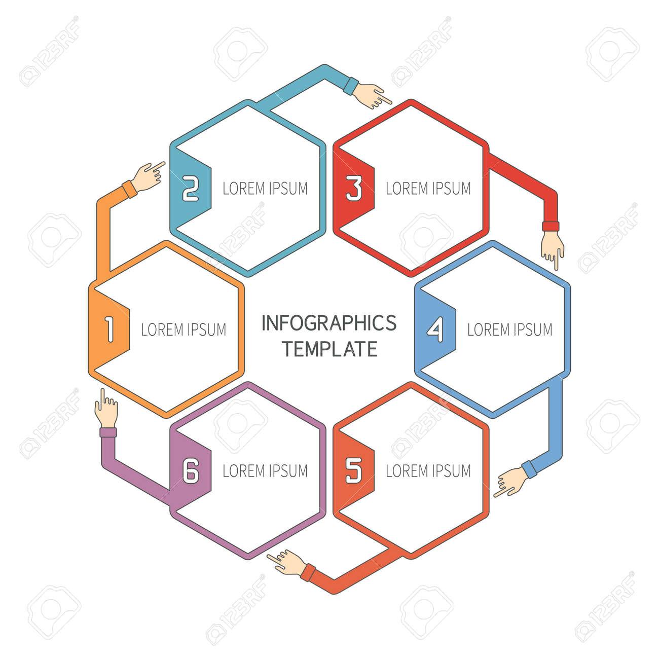 Resumen De Vectores De 6 Pasos Plantilla Infografía En Estilo De ...