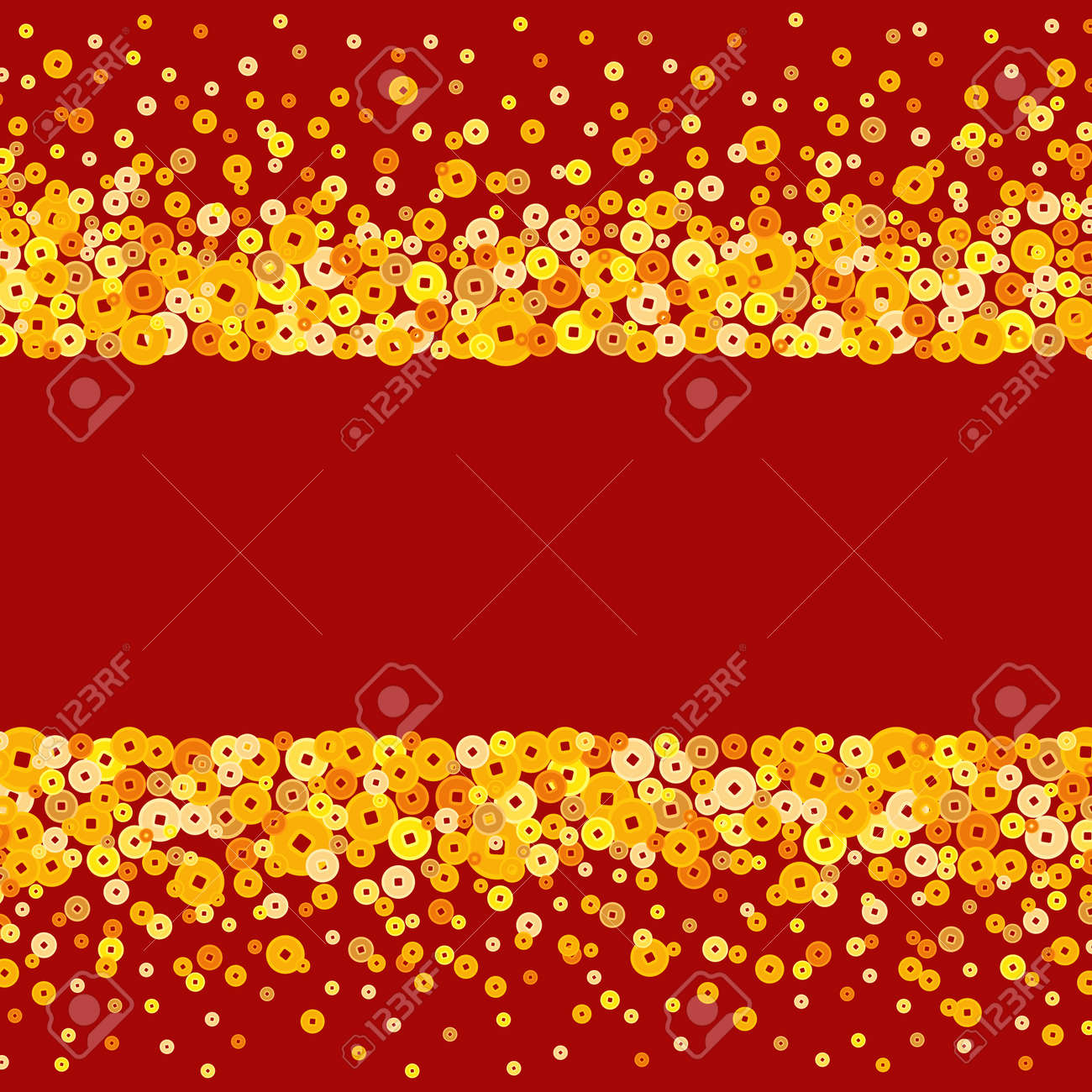 vector vector golden chinese new year coins text box or background