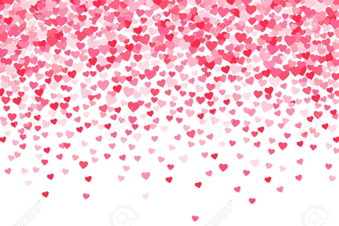 Vector Pink Red Valentines Days Hearts Background Royalty Free