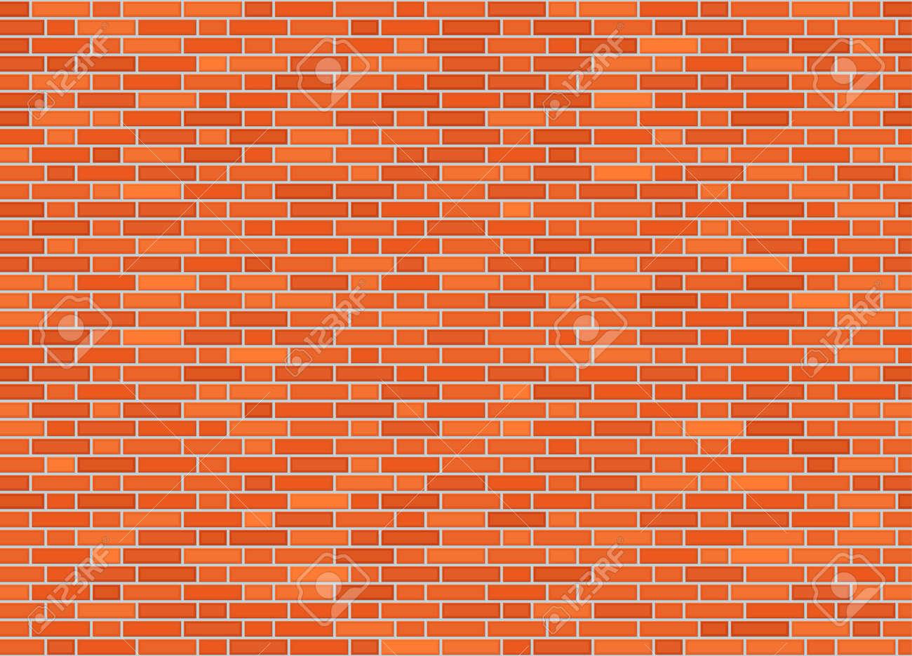 Vector seamless monk offset bond brick wall texture - 97680778