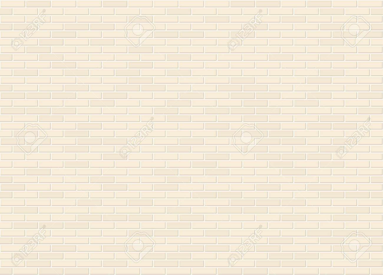 Vector seamless stretcher bond canvas color brick wall texture - 115019164