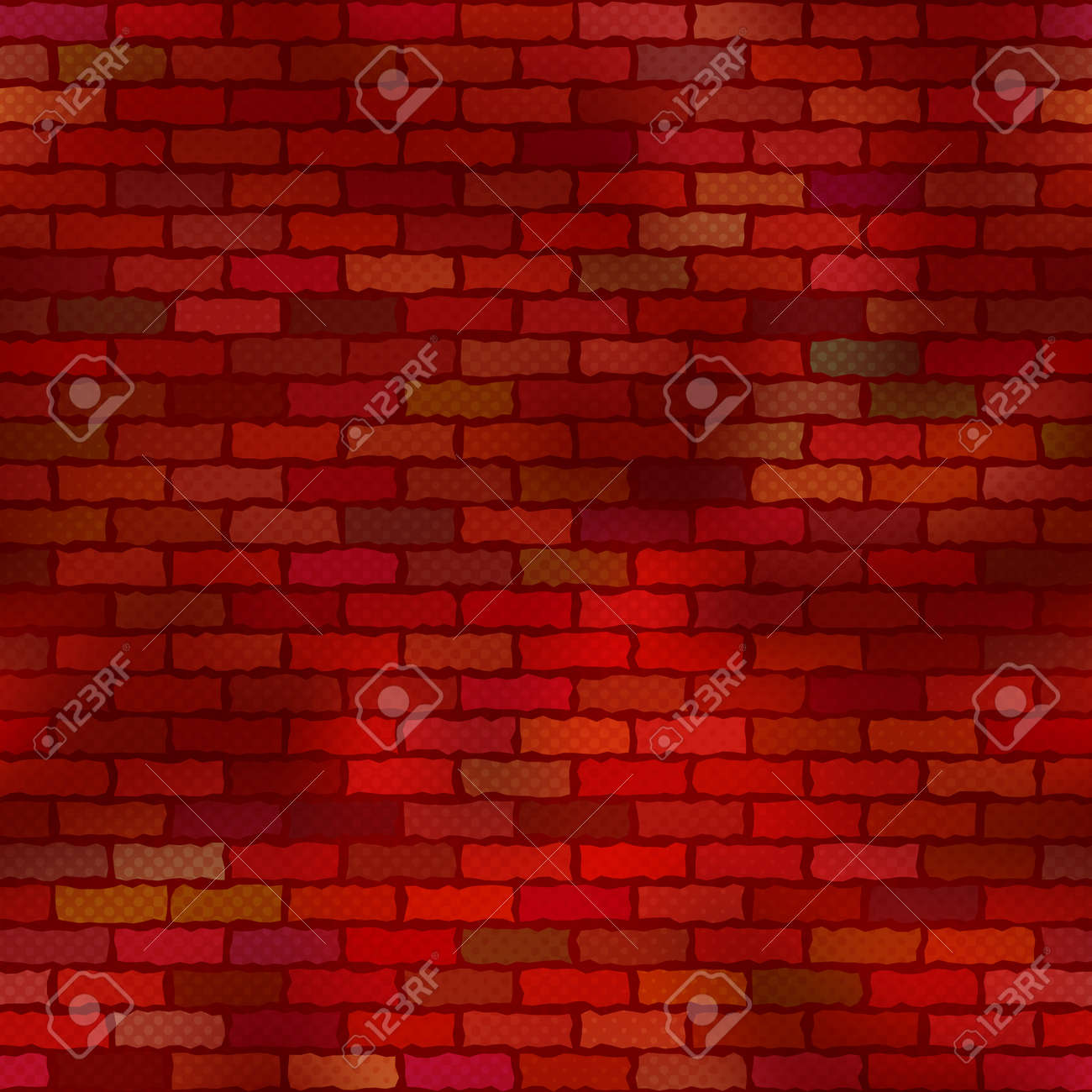 Brick red grunge wall with half-tone effect, seamless background, abstract texture for design  Vector eps10, contains transparencies Stock Vector - 15143081