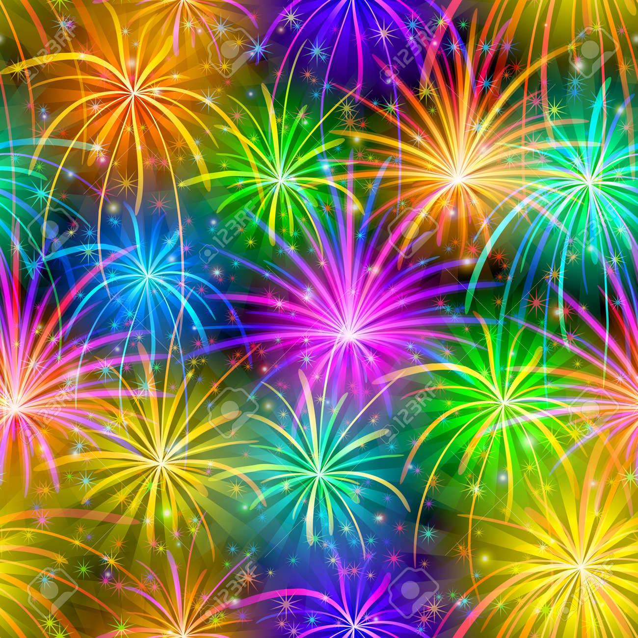 feuerwerk hintergrund nahtlos in verschiedenen farben muster fr ferien design vector eps10 enthlt folien lizenzfreie - Rentabilittsvorschau Muster