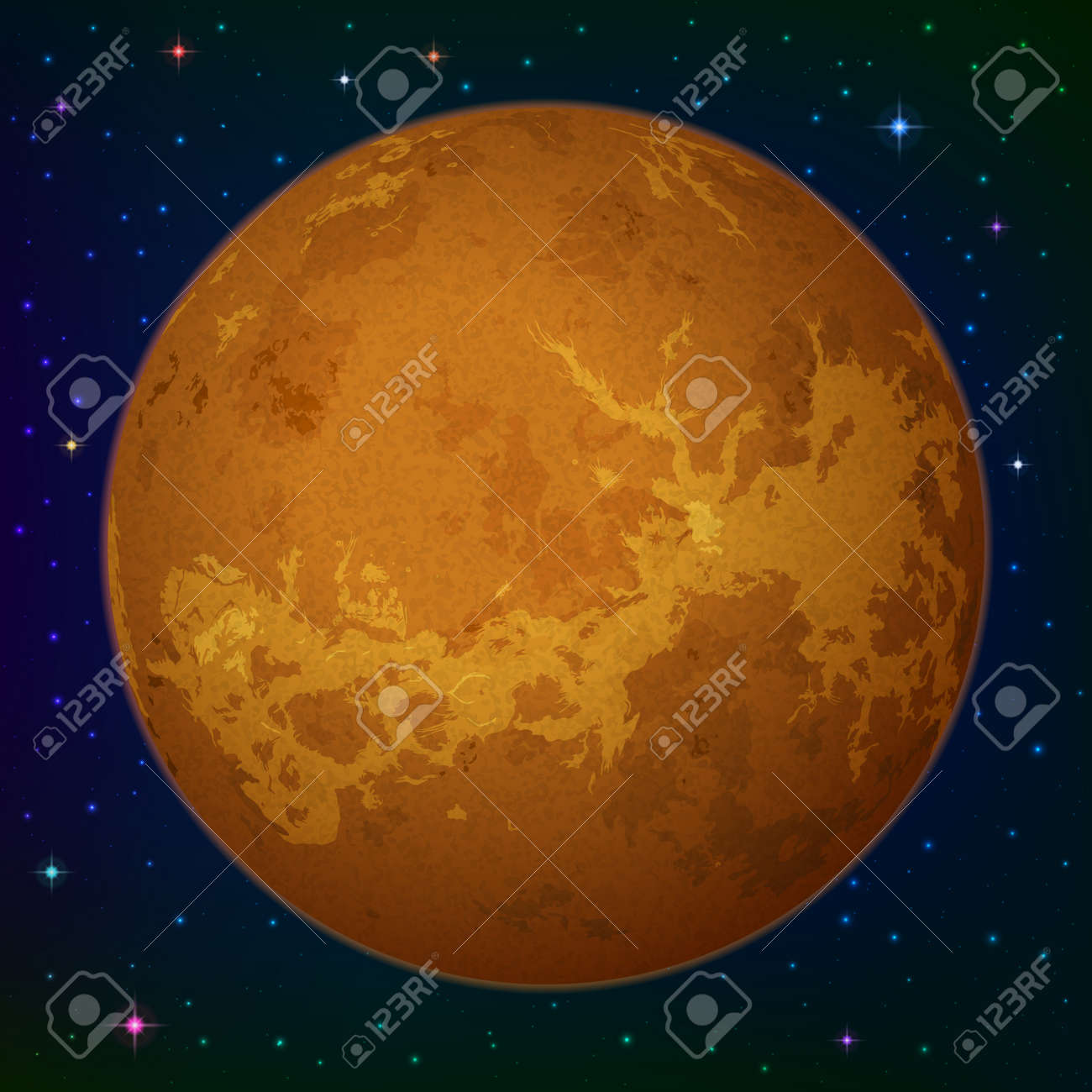 Space background realistic planet venus and stars royalty free space background realistic planet venus and stars stock vector 20551193 voltagebd Choice Image
