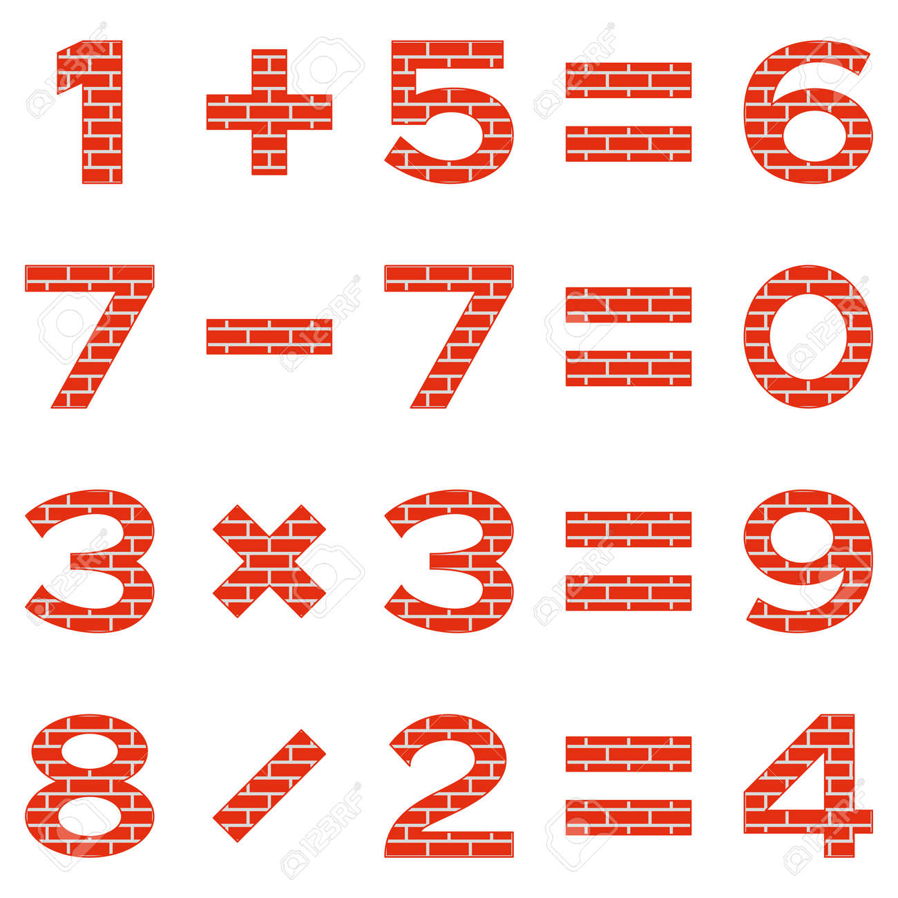 set of numbers and signs in mathematical equations, addition