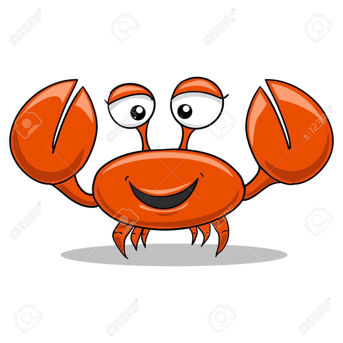 color red funny cartoon crab vector illustration royalty free rh 123rf com crab vector art crab vector png