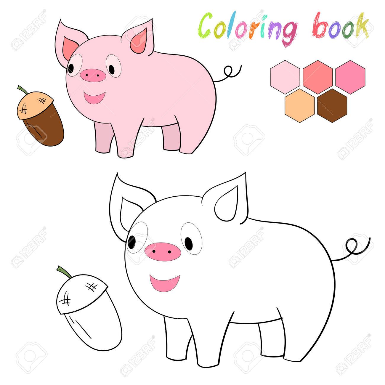 Magnífico Cerdos Colorantes Colección - Dibujos Para Colorear En ...
