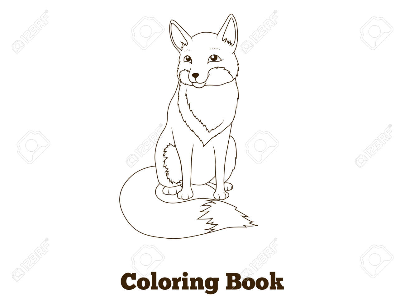 Coloriage Foret Renard.Livre De Coloriage Foret Animaux Dessin Anime Renard Pour Les