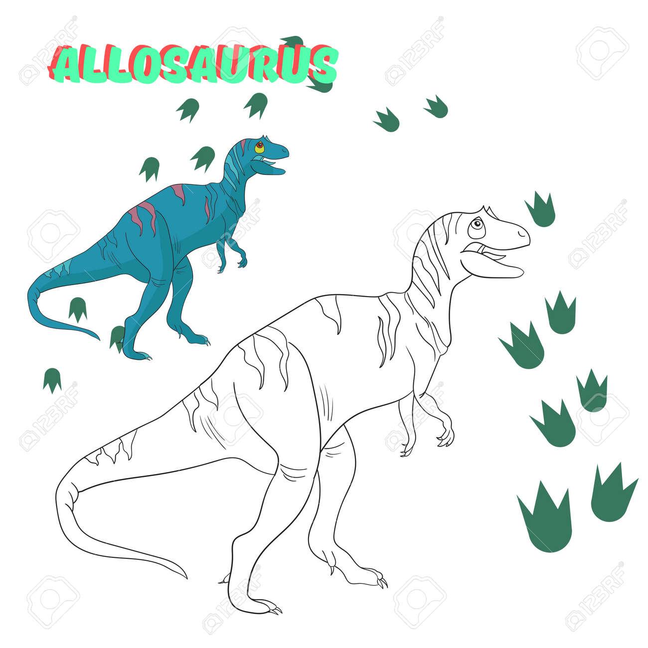 Juego Educativo Para Niños Para Colorear Libro De Dinosaurios ...