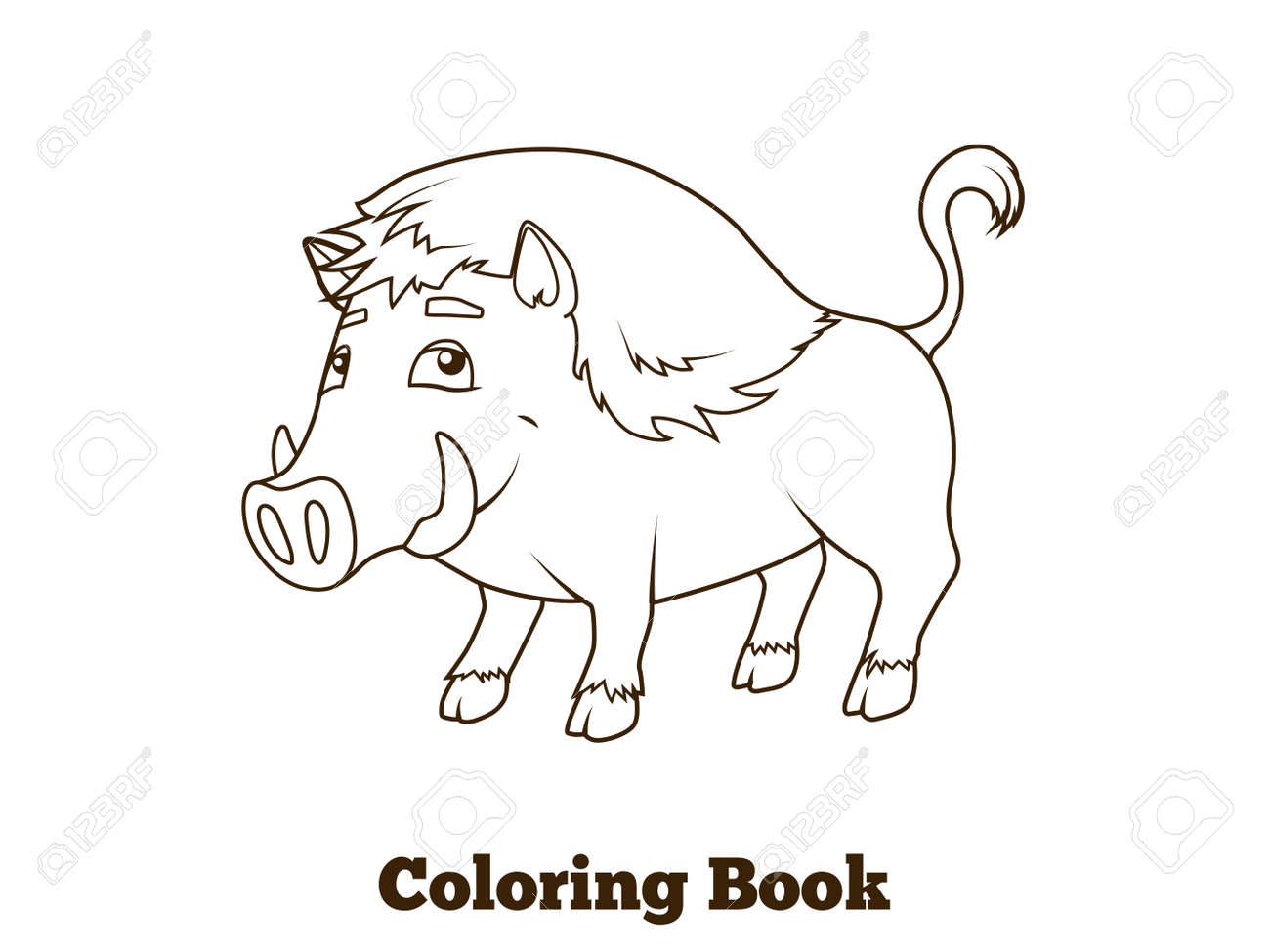 Animales Del Bosque De Libro Para Colorear De Dibujos Animados
