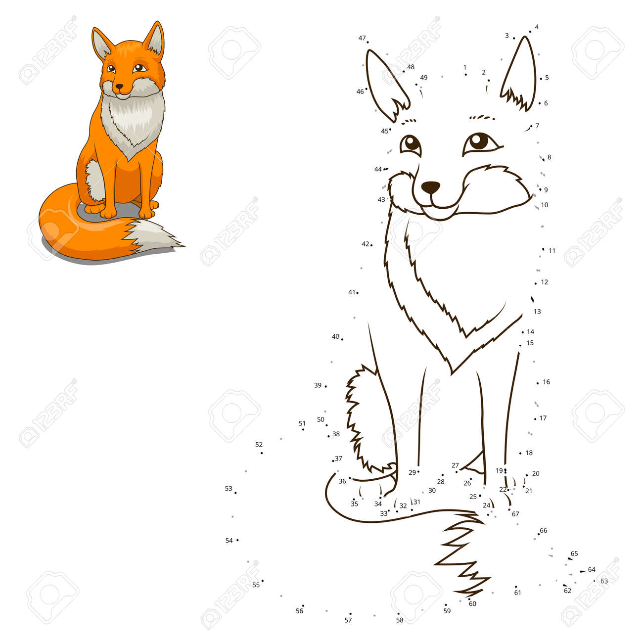 connect the dots to draw the animal educational game for children