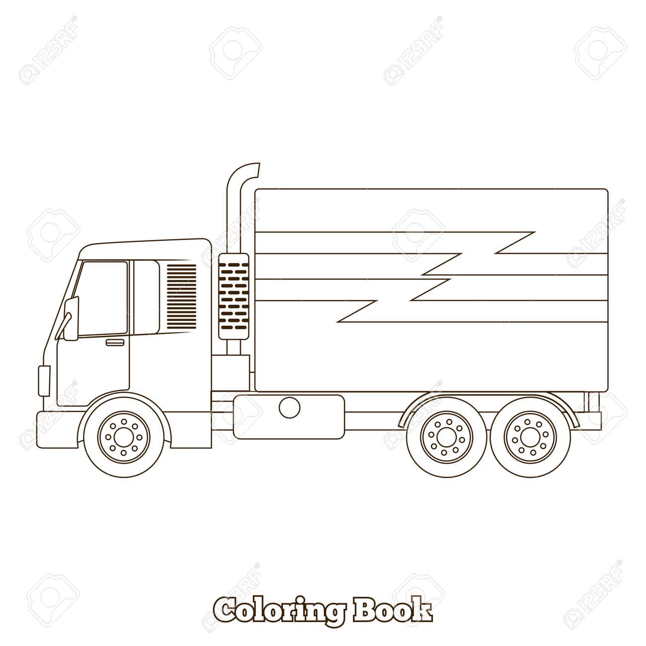 Atractivo Camiones Para Colorear Libro Inspiración - Dibujos Para ...