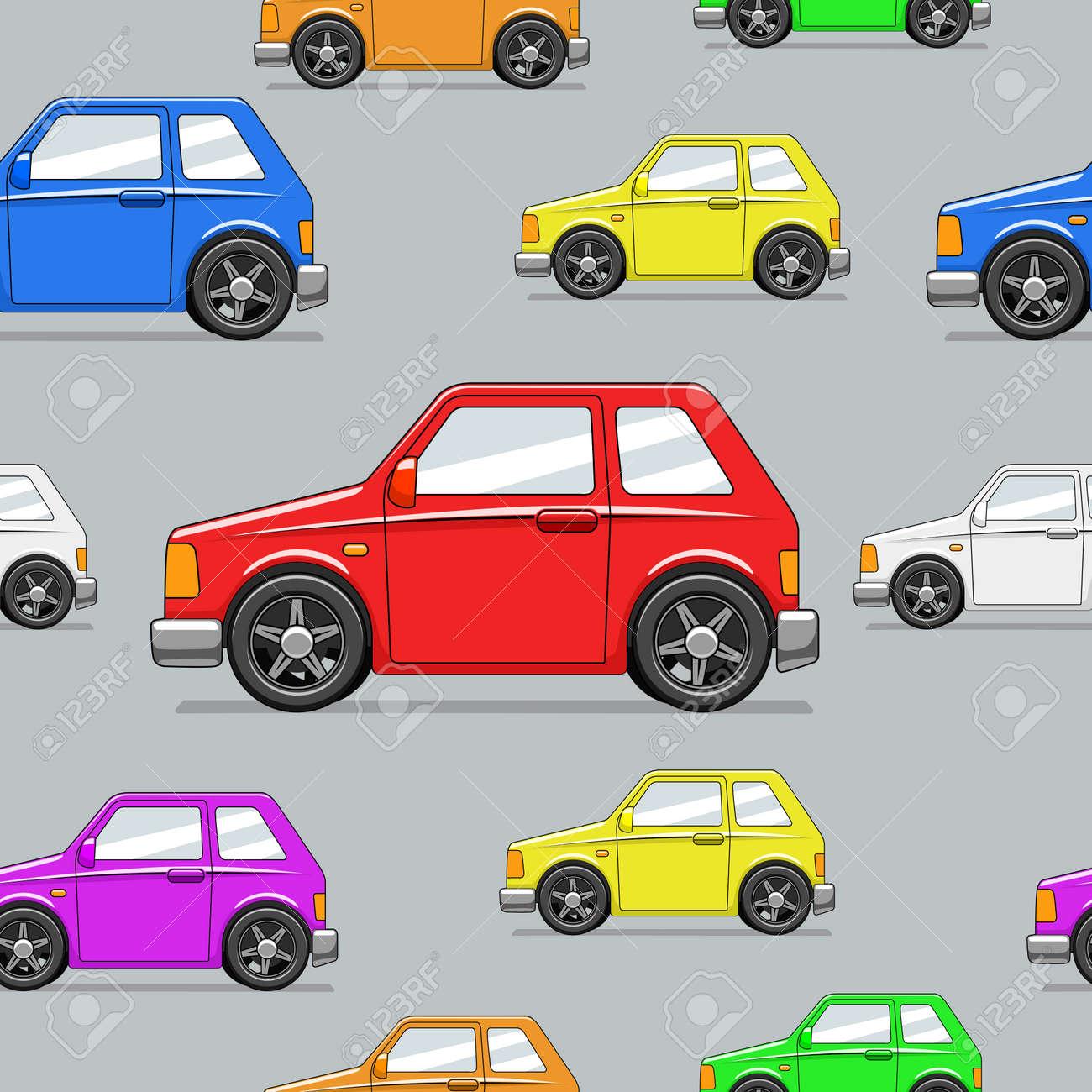 Ilustracion Vectorial Carro Tirado Sin Fisuras Patron De Dibujos