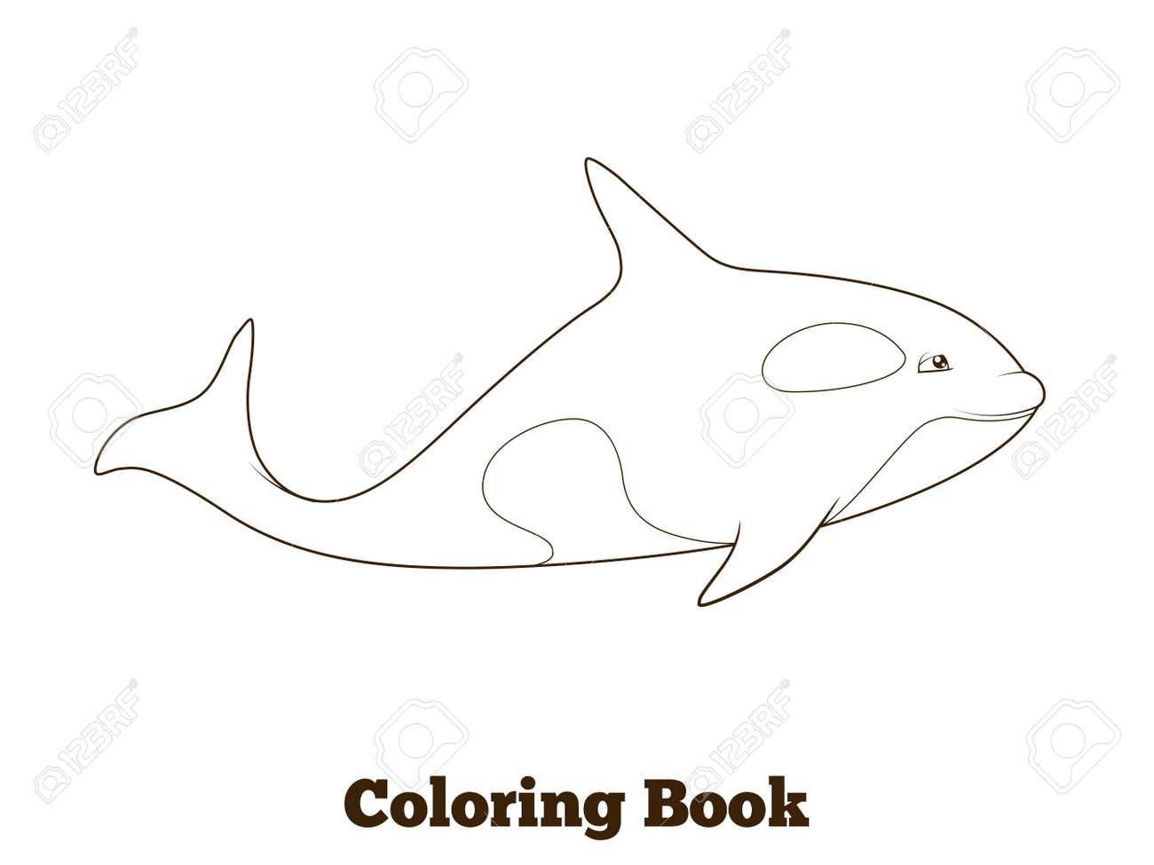 Ballena Libro Para Colorear De Dibujos Animados Orca Colorido ...