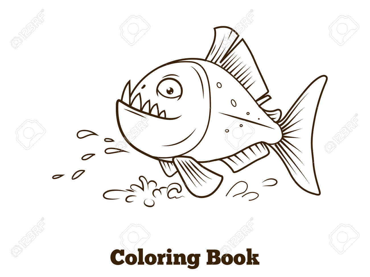 Encantador Libro Para Colorear Peces Motivo - Ideas Para Colorear ...