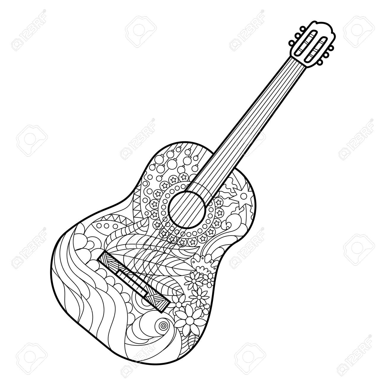 guitar coloring pictures 100 images donald was guitar