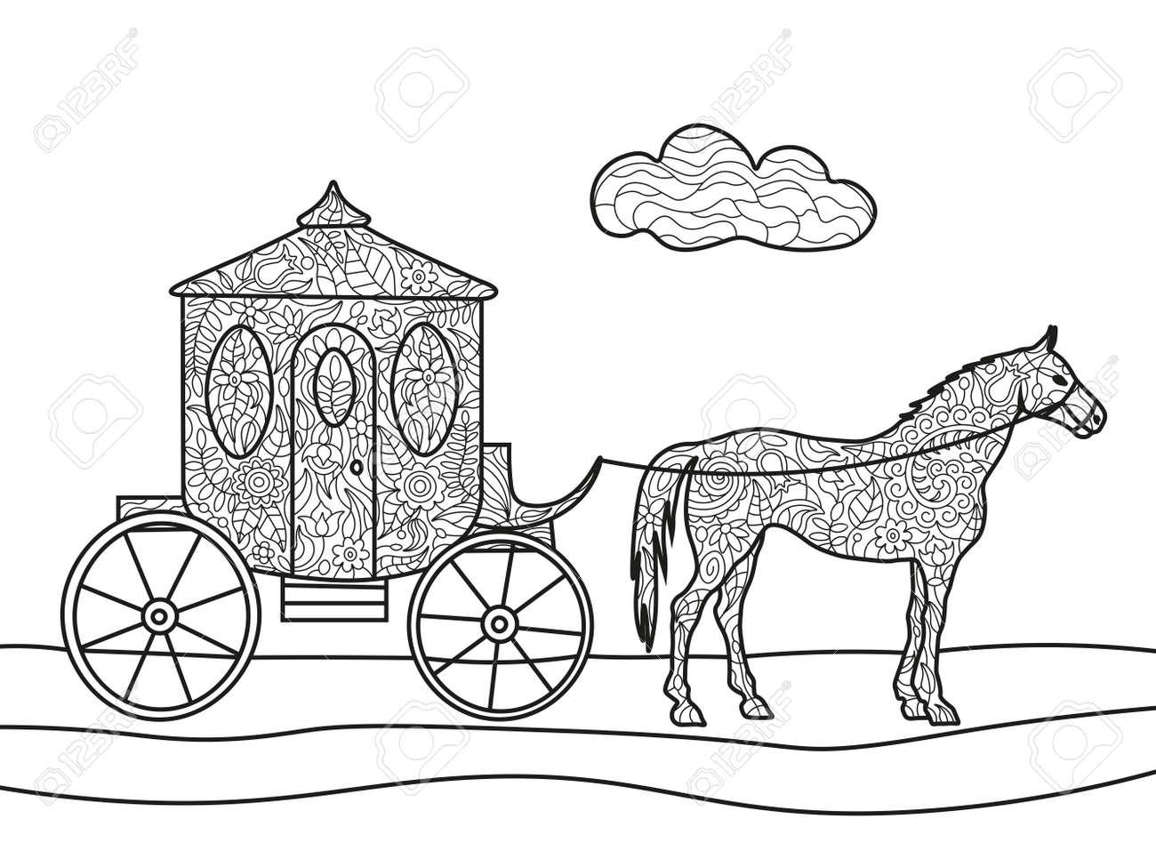 Pferd Mit Kutsche Ausmalbilder : Fantastisch Pferd Malbuch Galerie Malvorlagen Von Tieren Ngadi Info