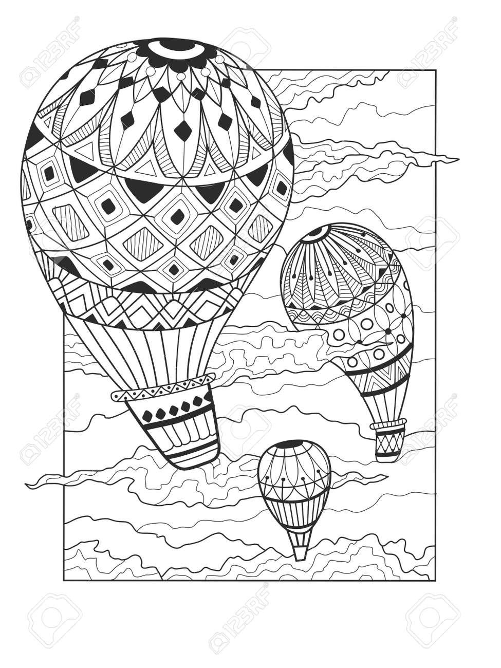 Libro Para Colorear El Globo Aerostático