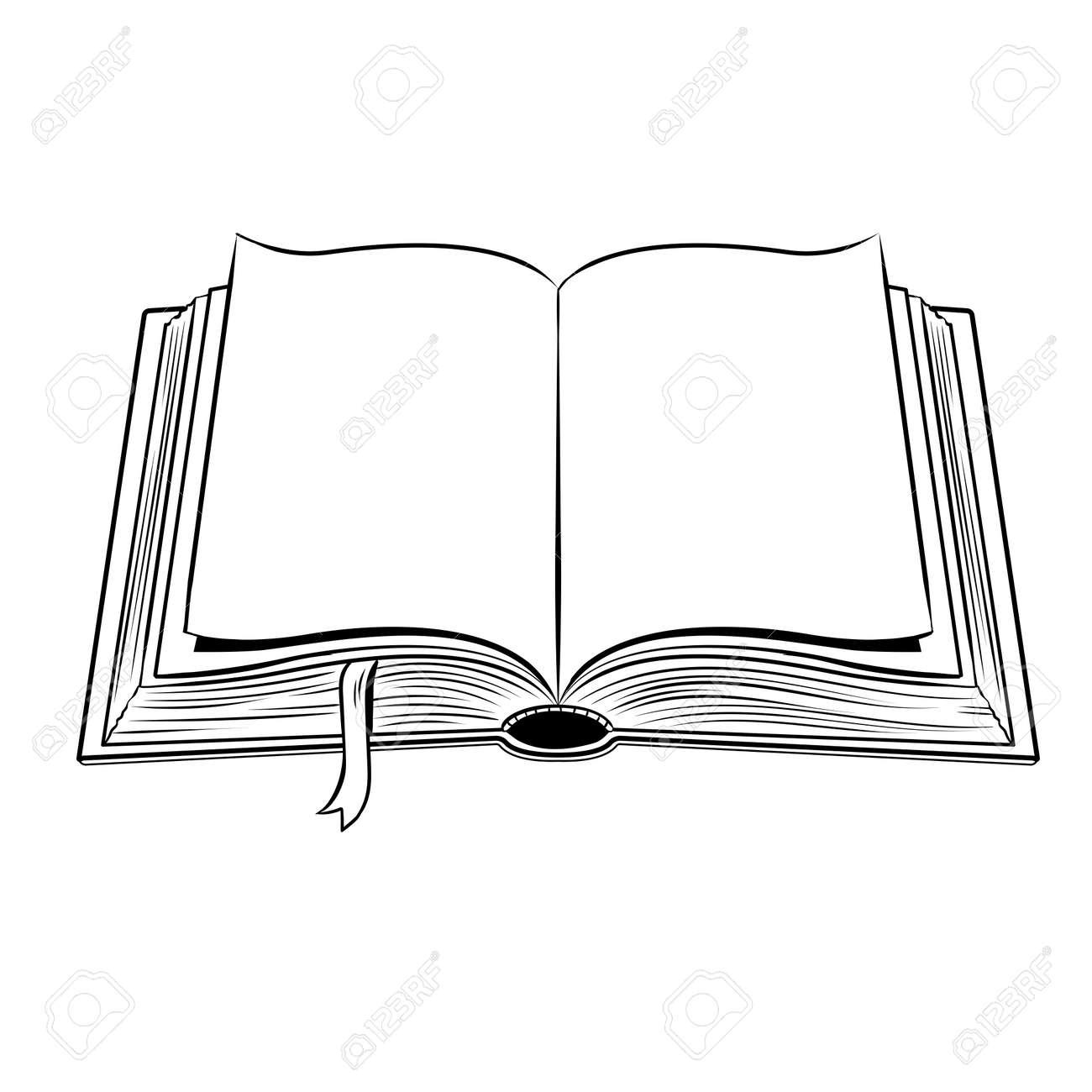 Offenes Buch Farbung Vektor Illustration Lizenzfrei Nutzbare