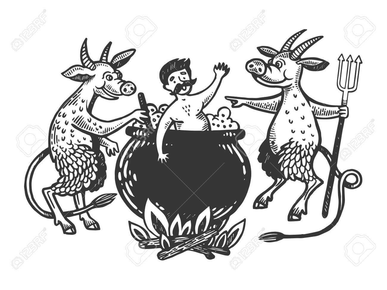 Billedresultat for white man in cauldron