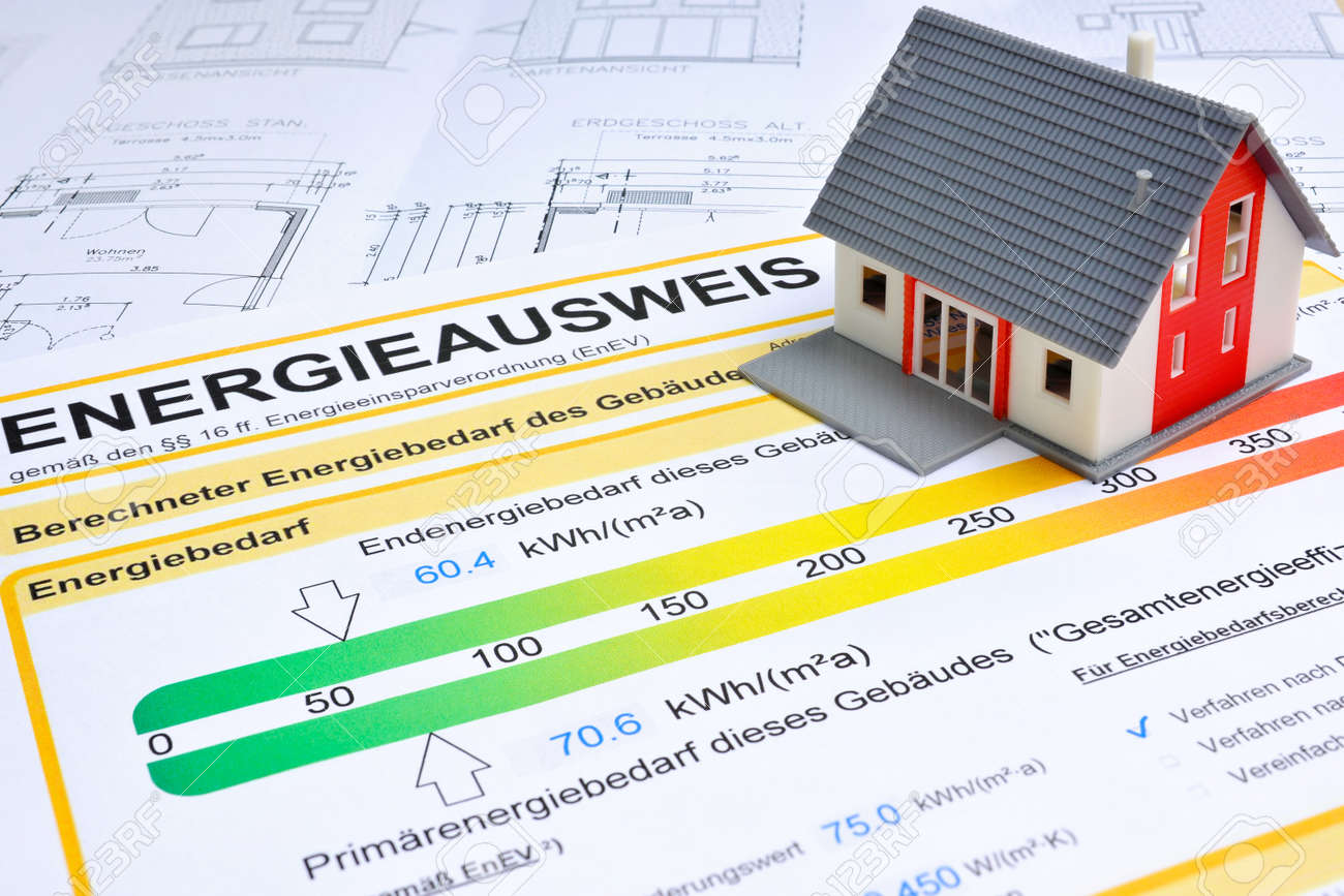 model of a house with energy saving certificate Stock Photo - 18030875