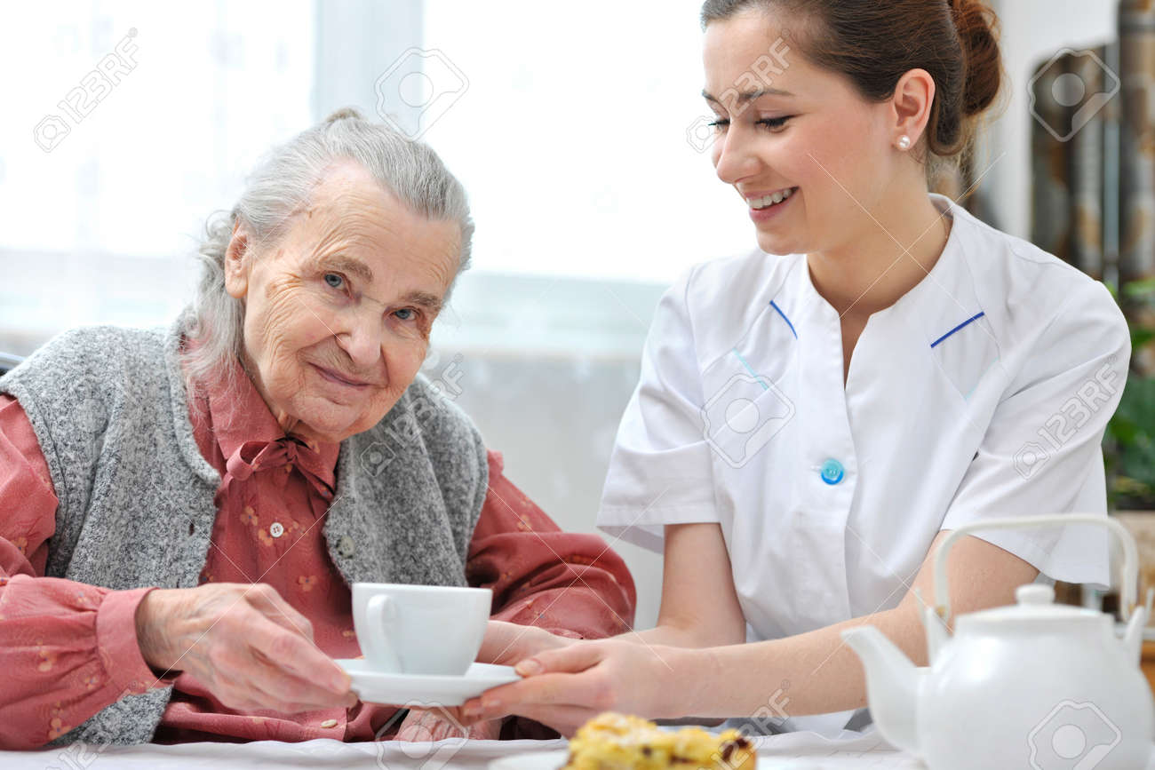 Senior Woman Eats Lunch At Retirement Home Stock Photo Picture And Royalty Free Image Image 18916076