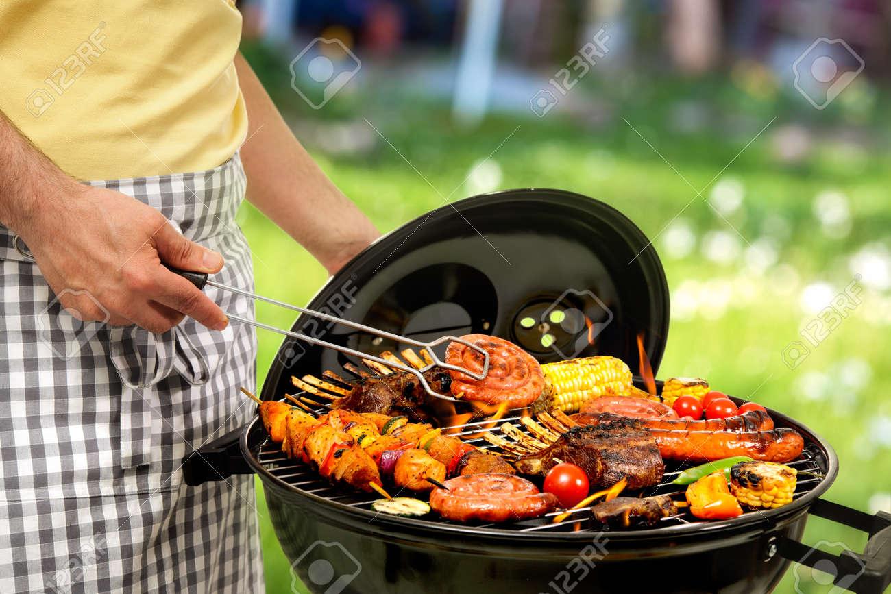 Garden Barbecue Stock Photos Images. Royalty Free Garden Barbecue ...