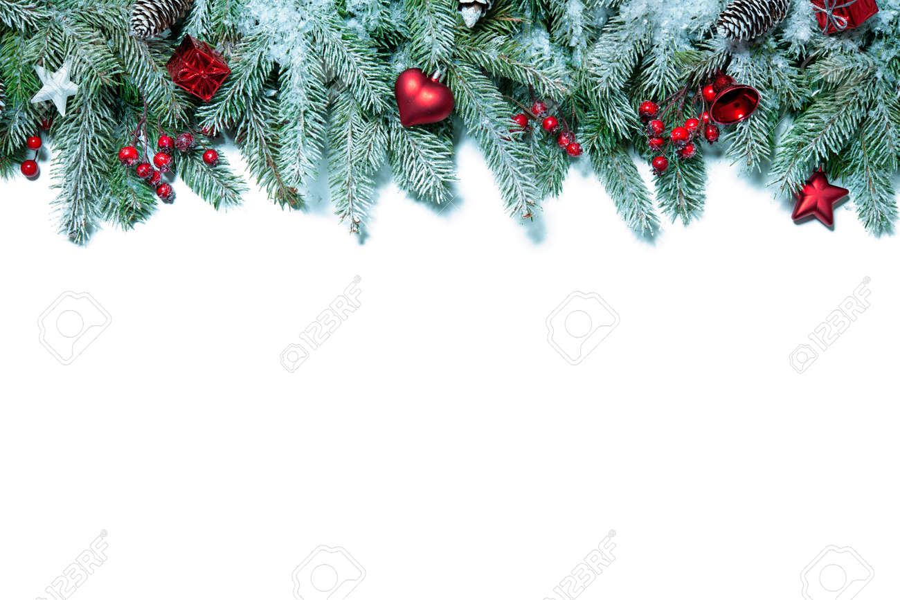 Christmas Decoration Holiday Decorations Isolated On White ...