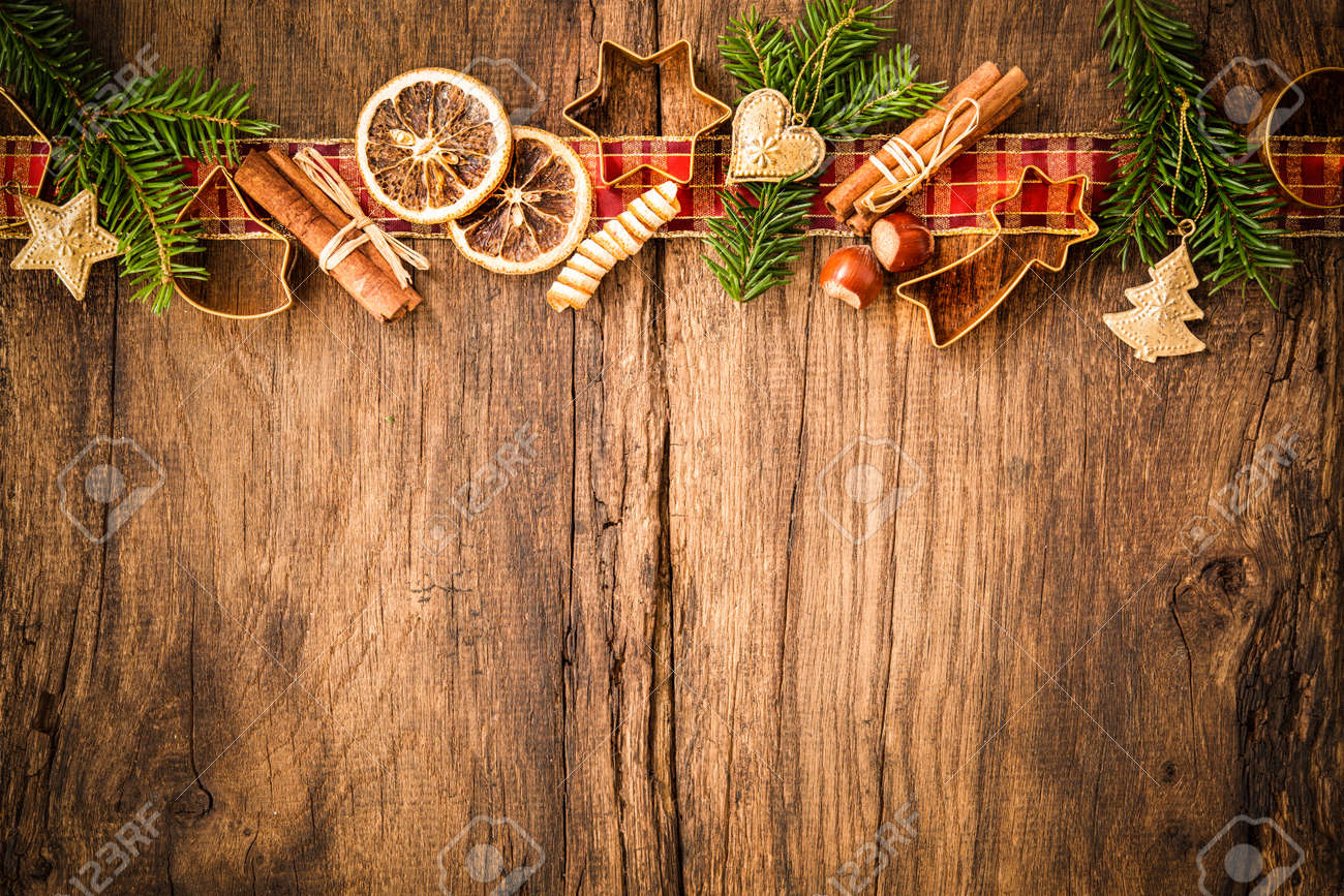 Baking concept background with spices and utensils for Christmas cookies Stock Photo - 47929608