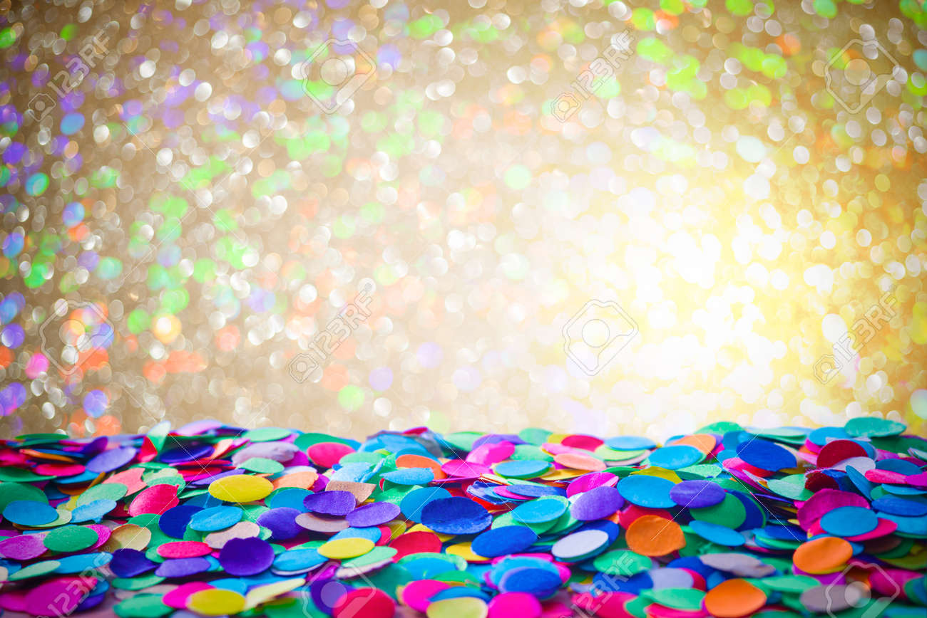 colorful carnival background with confetti stock photo picture and