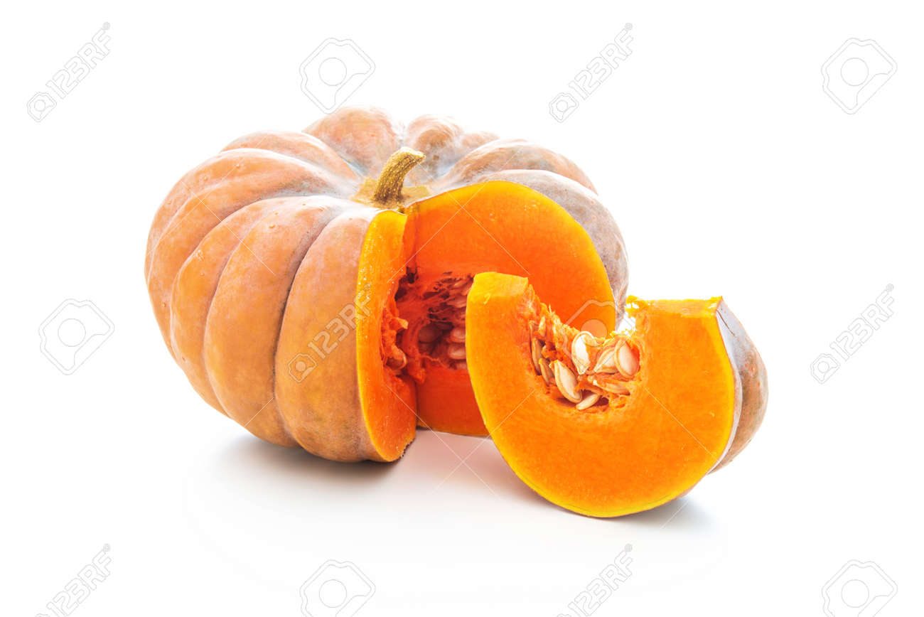 Nutmeg pumpkin isolated on white background - 88838280