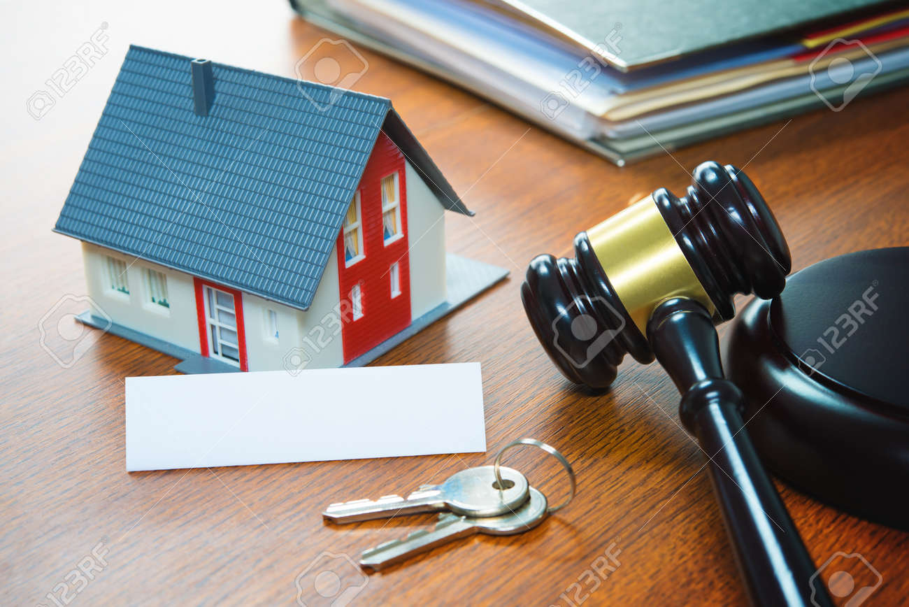 House with a Gavel. Foreclosure, real estate, sale, auction, business, buying concept - 96133659