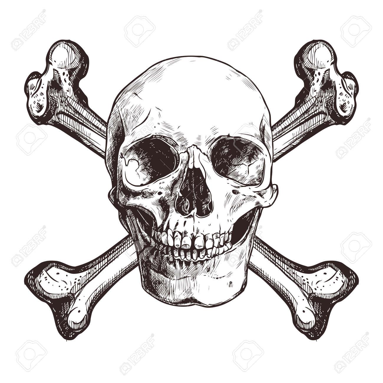 Skull With Two Cross Bones - 100603668