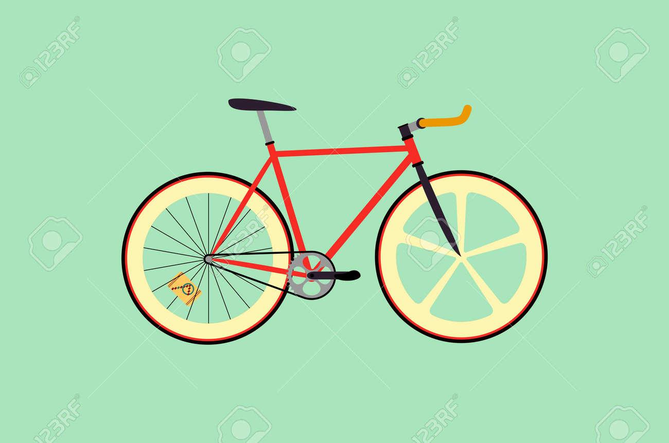 Bicicleta Fixie Diseño Plano Ilustración Ilustraciones Vectoriales ...