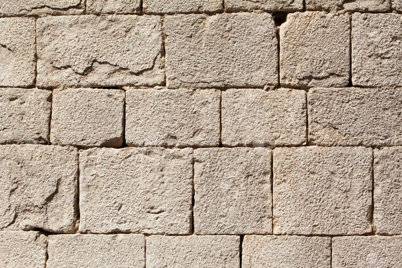 Texture of Cathedral wall. Calcareous stone. - 20177137