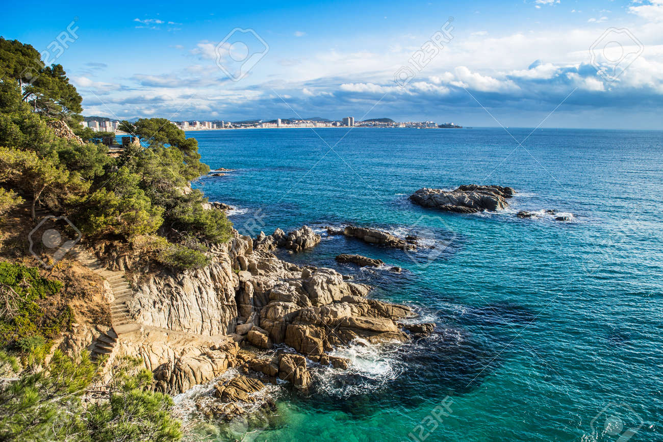 Beach Landscape Of Calonge Costa Brava Spain Stock Photo Picture And Royalty Free Image Image 35812879