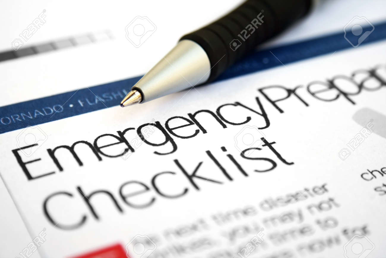 Emergency checklist - 10828638