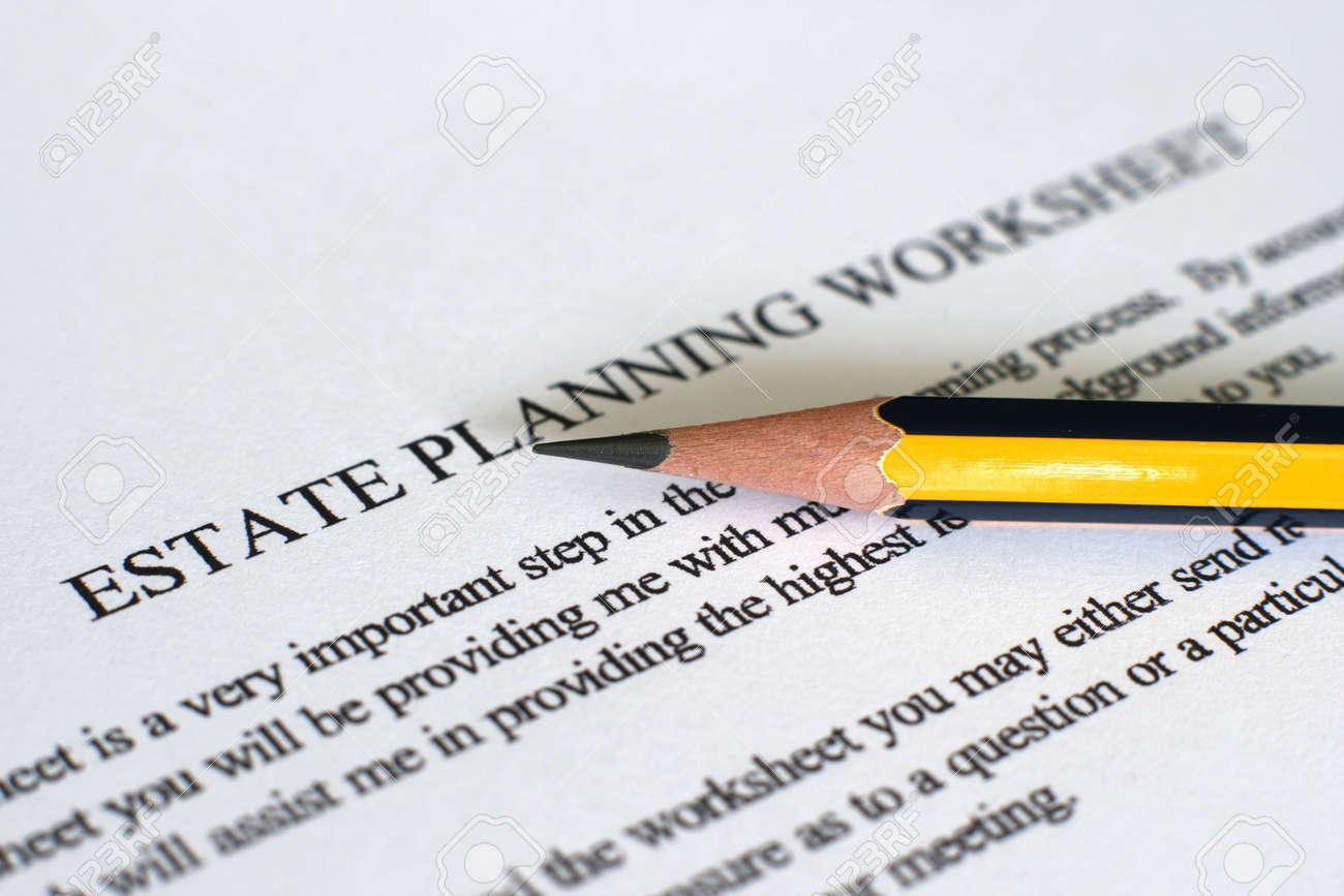 Estate plan sheet Stock Photo - 12547585