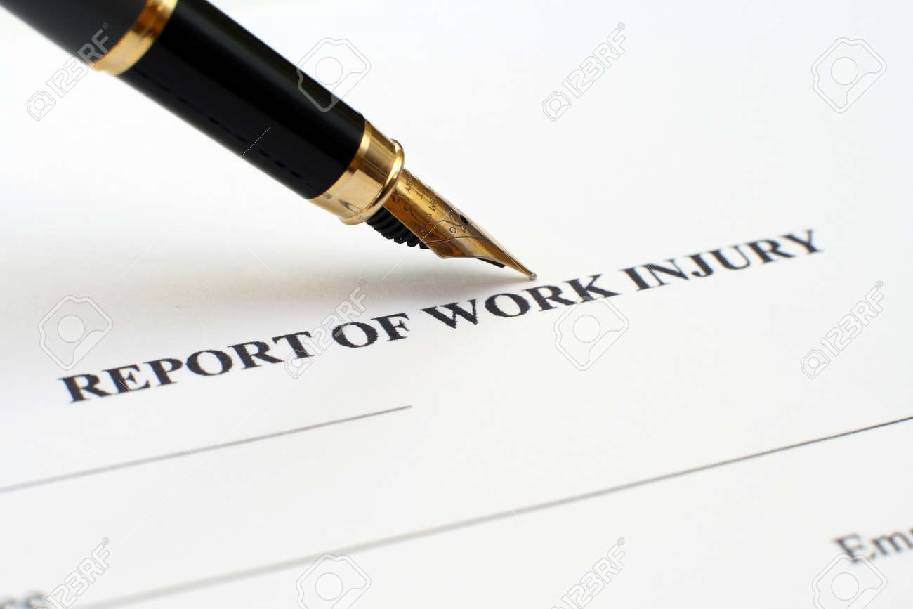 Report of work injury Stock Photo - 12558635