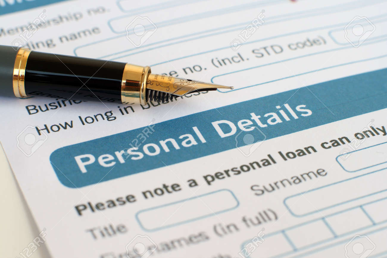 Loan form Stock Photo - 12559001