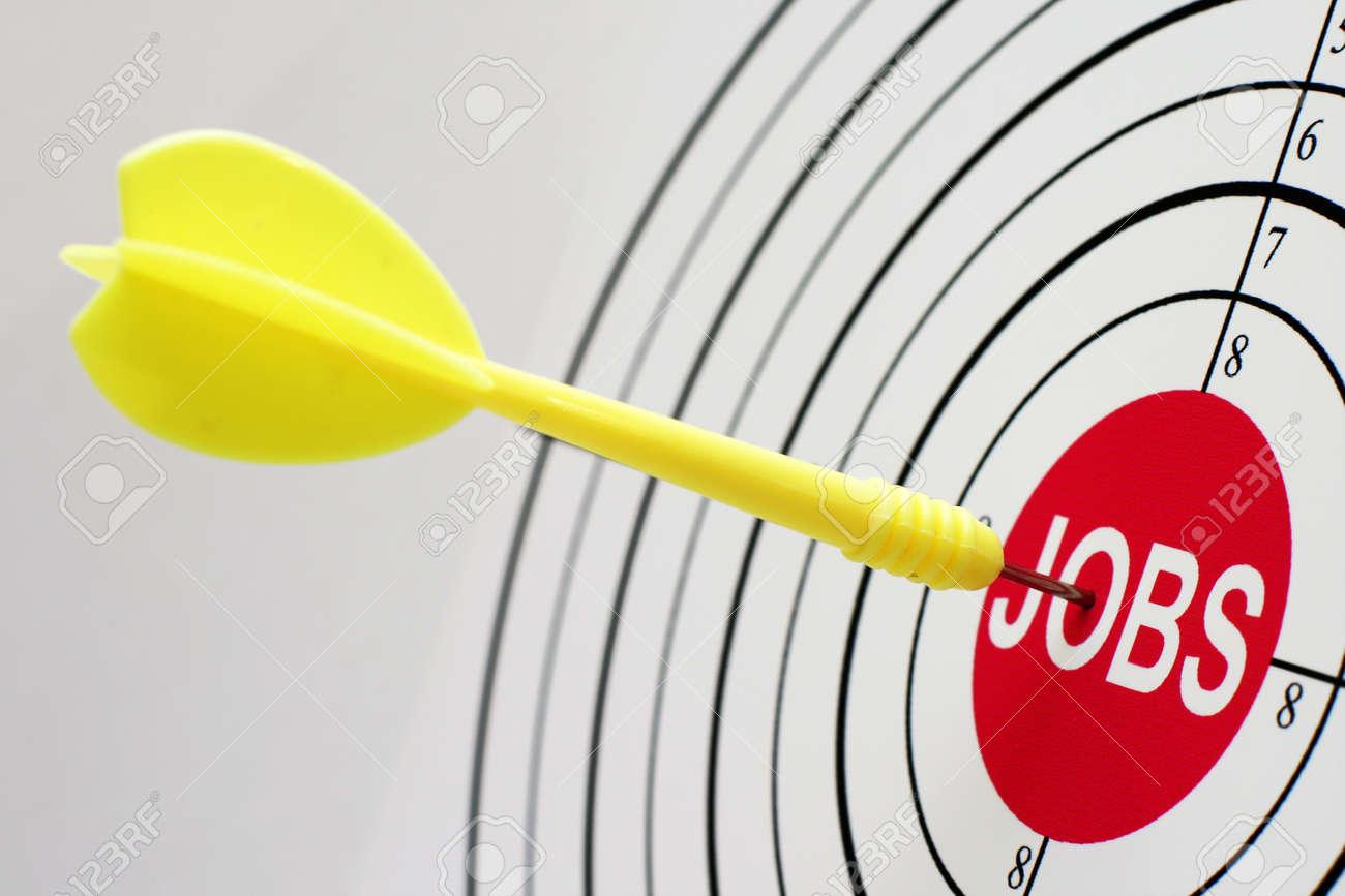 Job target Stock Photo - 12555636