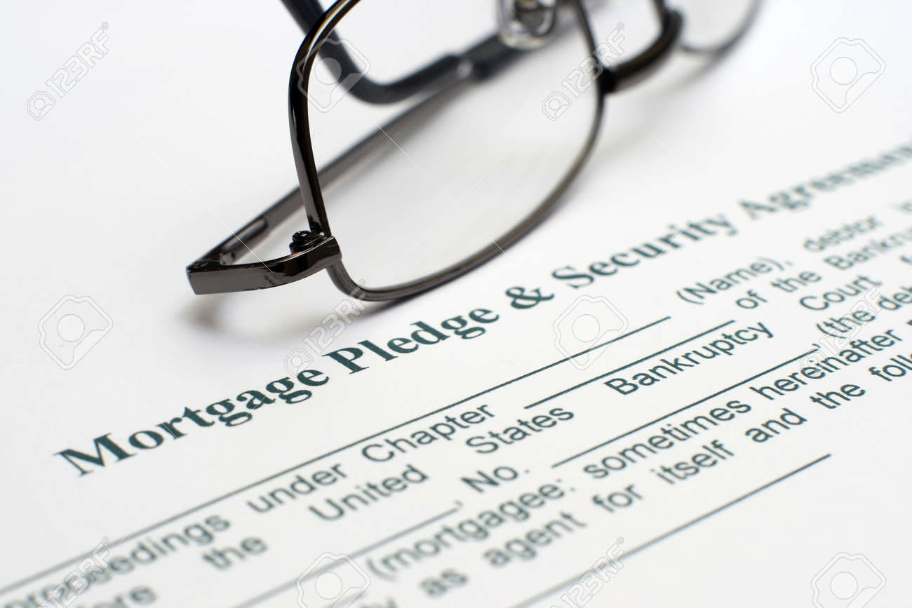 Mortgage And Security Agreement Stock Photo Picture And Royalty