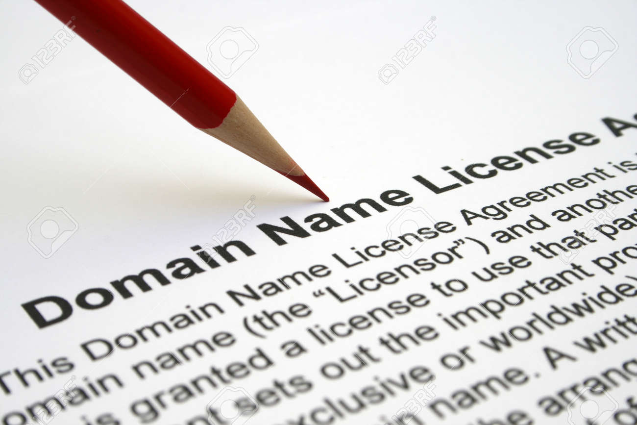 Domain name license agreement Stock Photo - 12558659