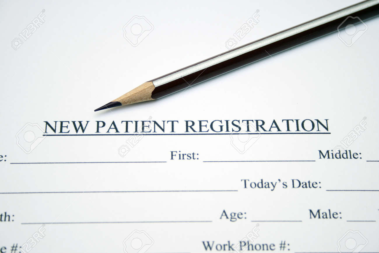 Patient Registration Form Photo Picture And Royalty Free – Patient Registration Form