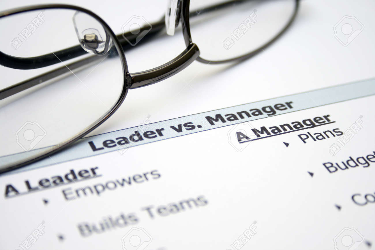Leader versus manager Stock Photo - 12984029