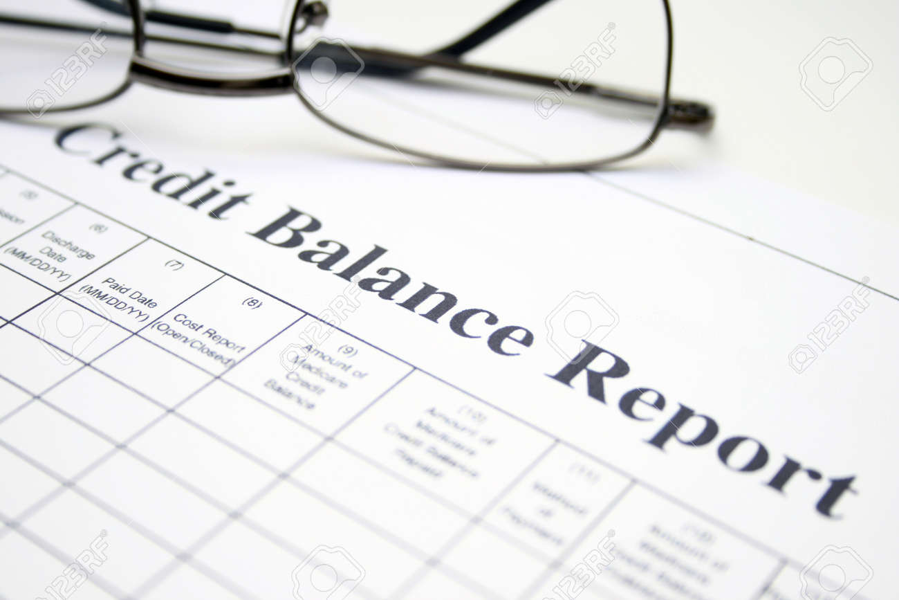Credit balance report Stock Photo - 12984002