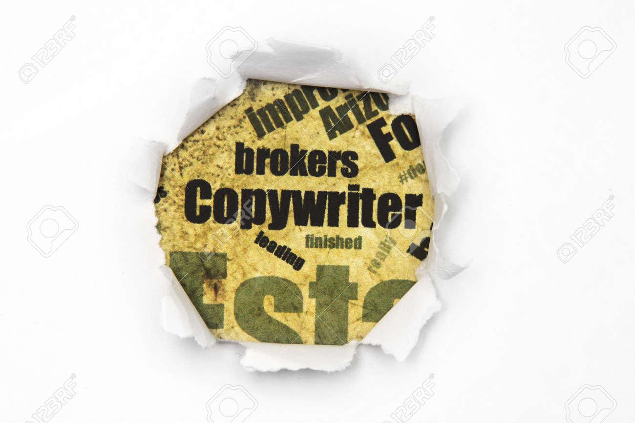 Copywriter paper hole Stock Photo - 14650122