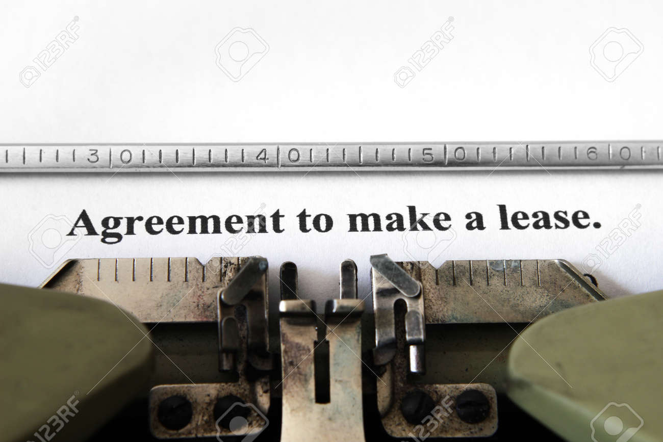 Agreement To Make Lease Stock Photo Picture And Royalty Free Image