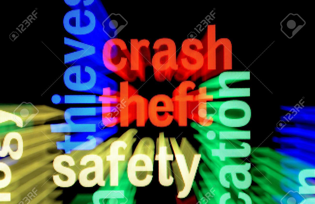 Crash theft safety Stock Photo - 17432090
