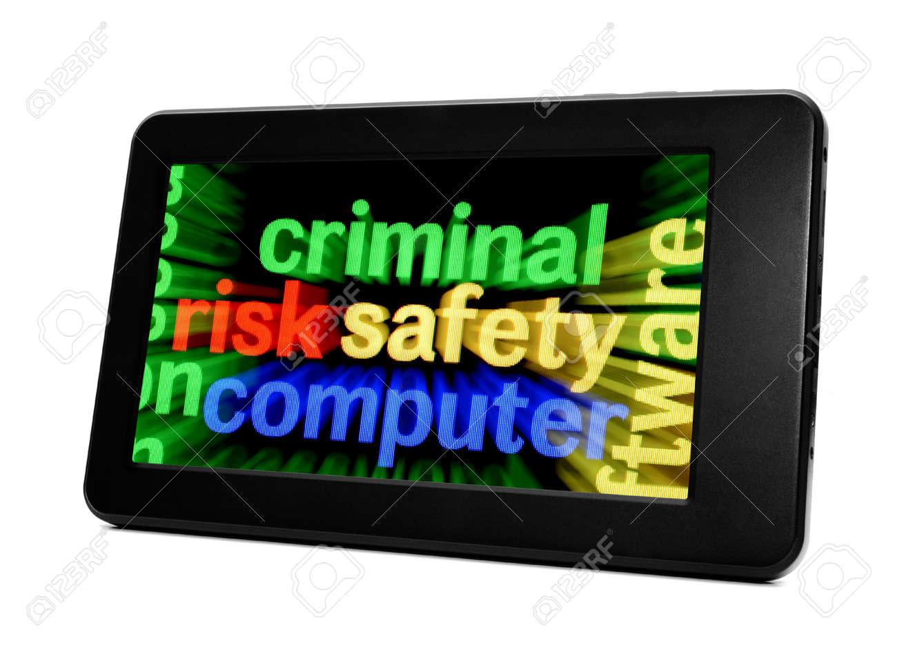 Criminal safety computer Stock Photo - 18122225